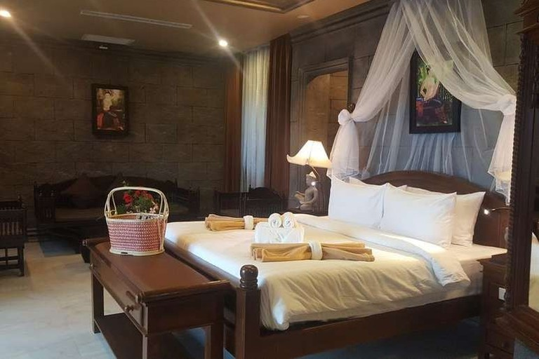 Guest room at Le Palais Hotel