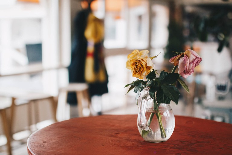 Flowers and coffee in Berlin