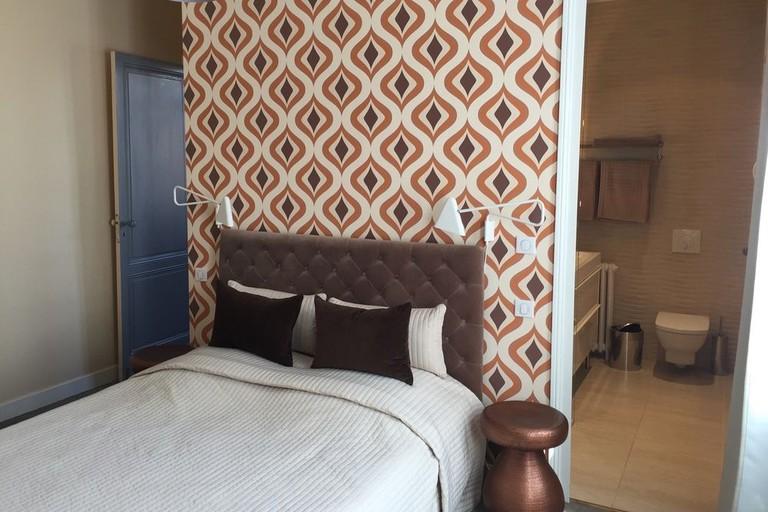 Guest room at Villa Desvaux de Marigny