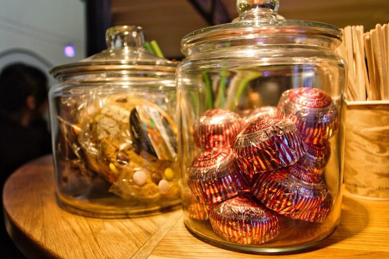Tunnock's Teacakes At The Peerie Shop Cafe, Lerwick, Shetland