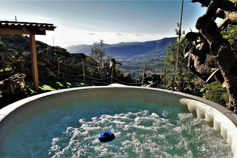 Jacuzzi in Rural Cave House