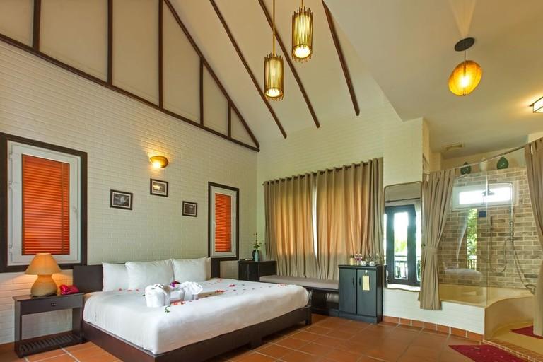 Guest room at East West Villa