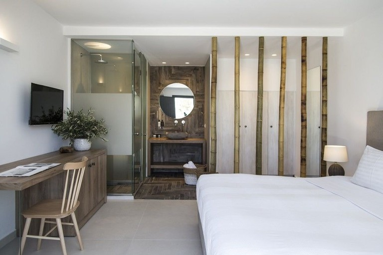 Guest room in Ftelia Bay Boutique Hotel