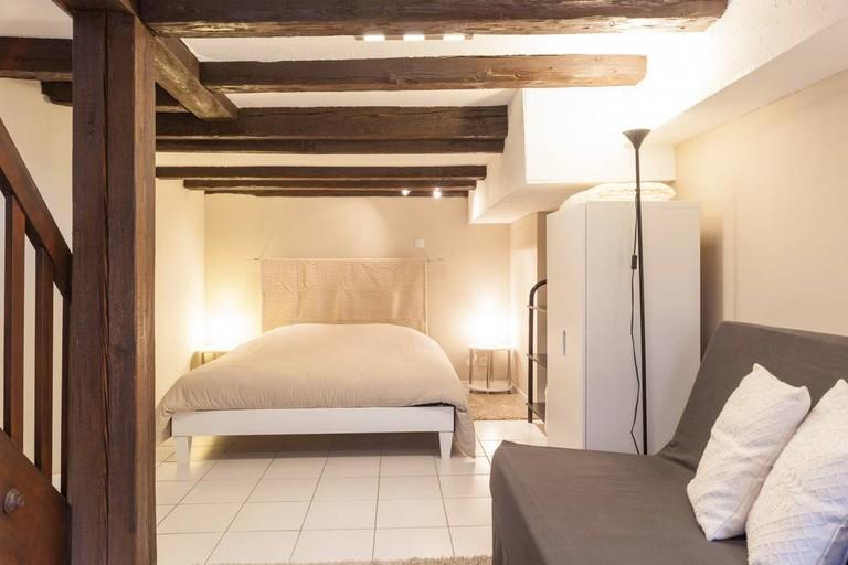 Bedroom at duplex studio