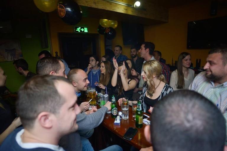 A party atmosphere at Basement Bar in Kruševac
