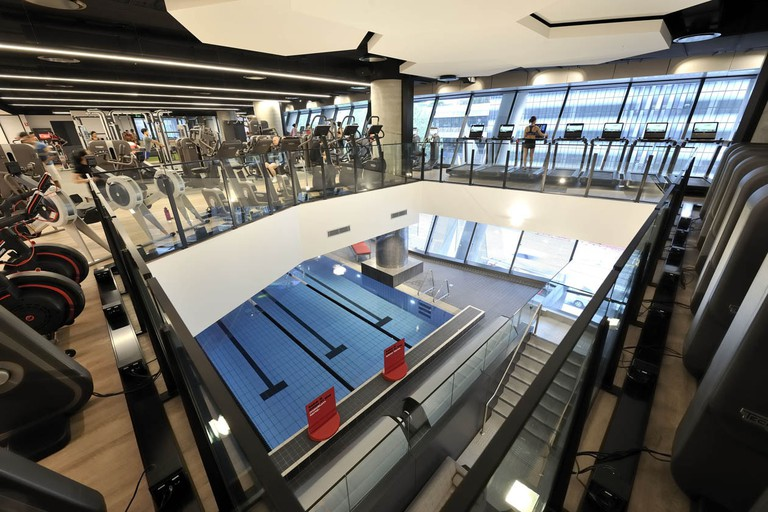 The gym floor at Virgin Active Collins Street