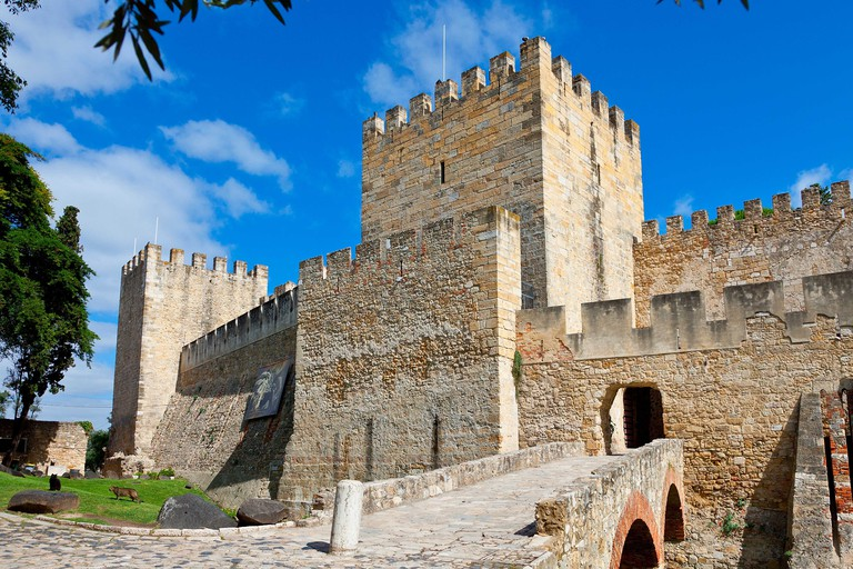 Castelo de Sao Jorge in Lisbon, Portugal.