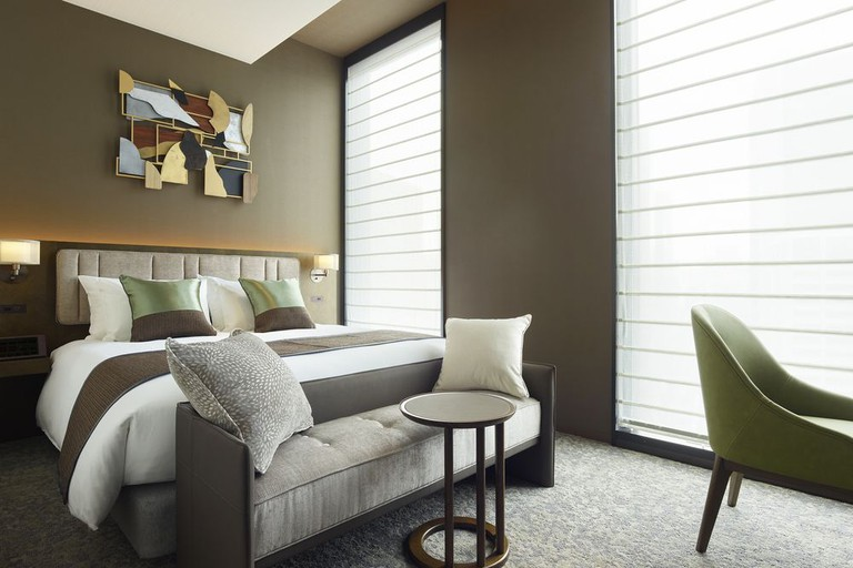 Guest room at Hotel The Celestine Ginza