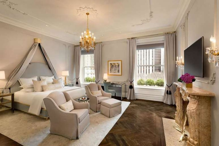 The Plaza Hotel's rooms are impeccably furnished