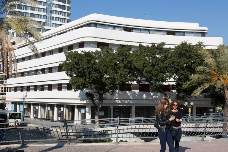 World Heritage Bauhaus buildings at Dizengoff in Tel Aviv pictured 20.02.2014