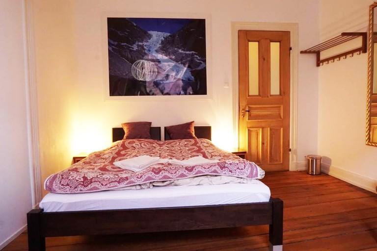 A bedroom in the vintage villa