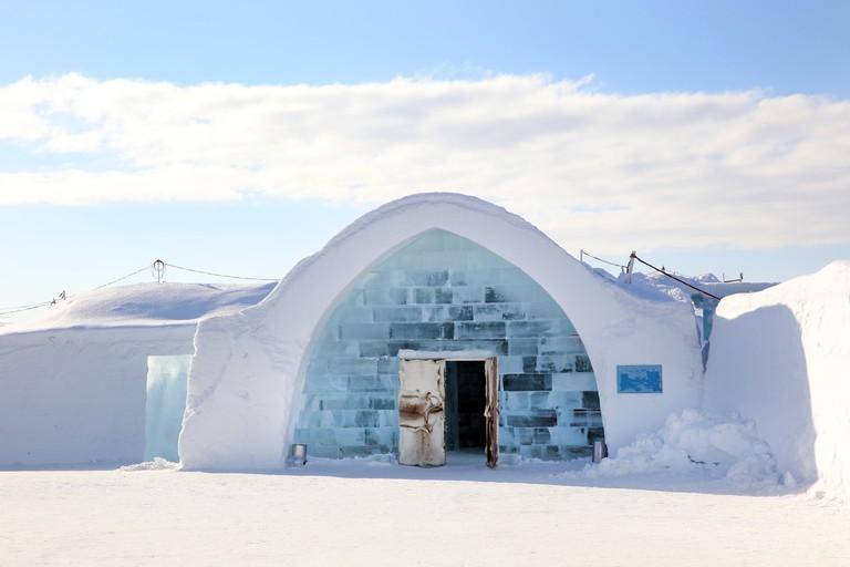 Ice Hotel, Jukkasjarvi, in northern Sweden.