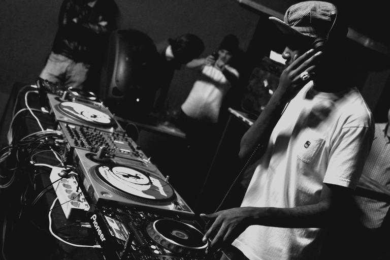 DJ playing in a club