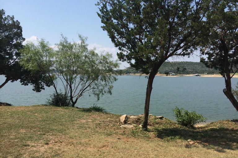 A view of Possum Kingdom Lake from Lake Shore Lodge near Graham, Texas