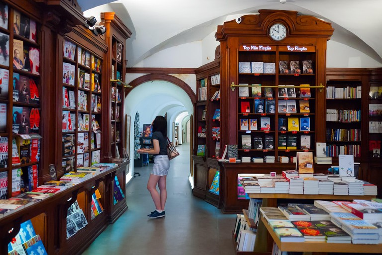 Photo of the Bertrand Bookstore, the oldest bookstore in the world (since 1732), Lisbon, Portugal