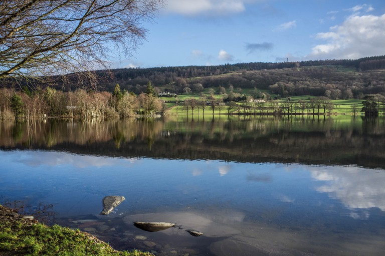 Coniston Water in Cumbria, English Lake District