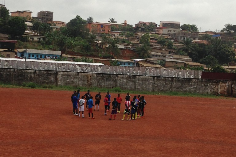 Players gather to pick a game in Yaounde