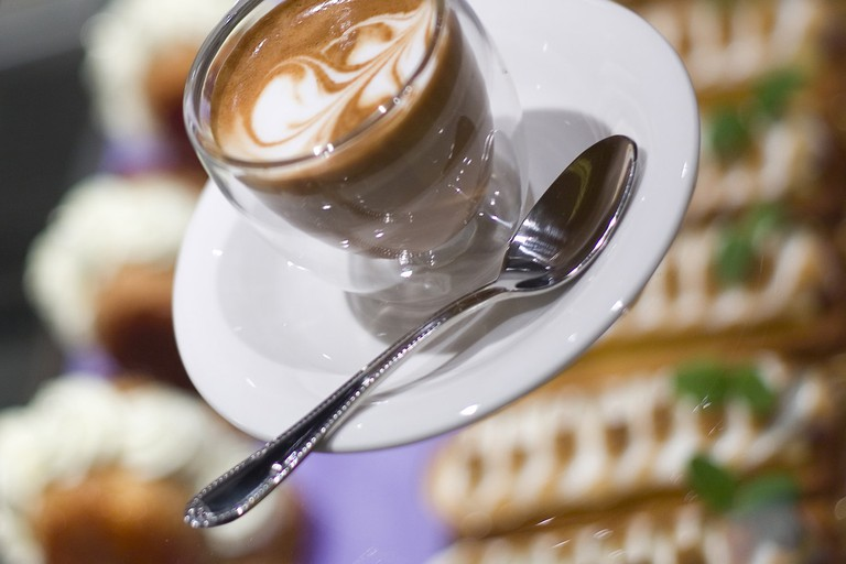 Enjoy a good cup of coffee at Léa Linster Delicatessen in Luxembourg