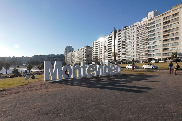 The city's name in giant letters: a great spot to take pictures