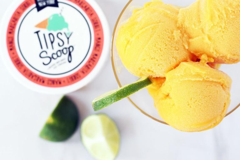 Mango Margarita Sorbet, Haley Williams, @ifyougiveablondeakitchen