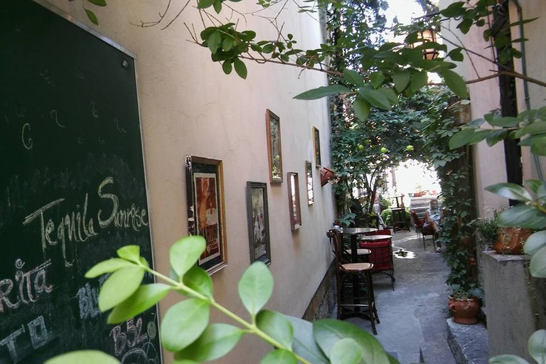 The cheeky garden at Monk's Bar in Belgrade