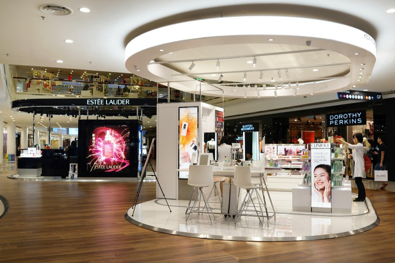 Clinique Laboratories cosmetic store in Queensbay mall. Penang, Malaysia
