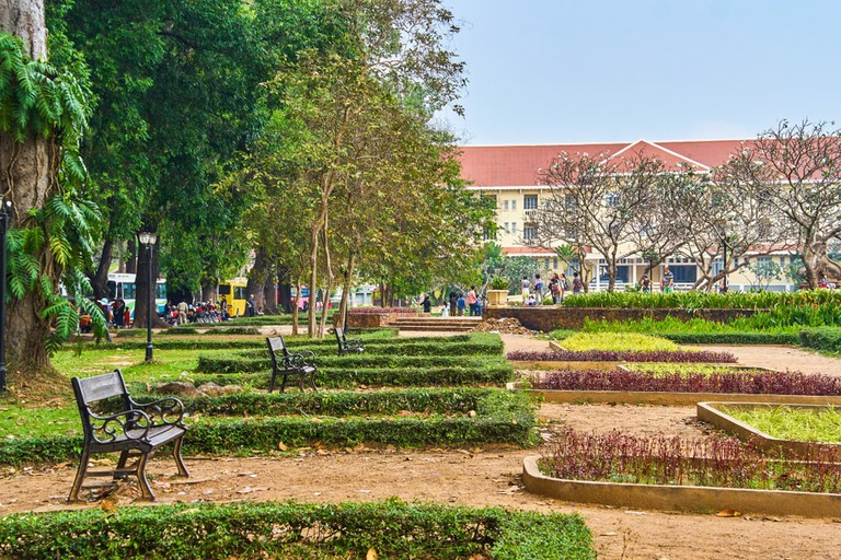 Royal Independence Gardens in Siem Reap, Cambodia
