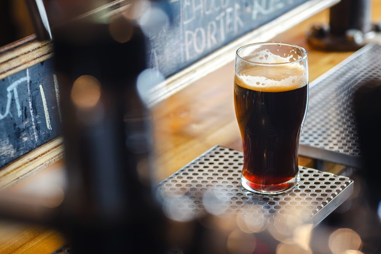 Irish pubs serve perfectly poured stout ales