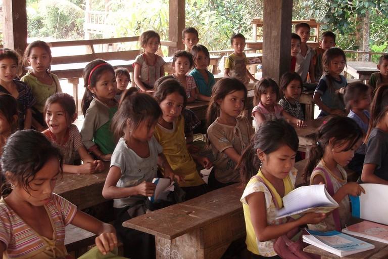 Lao children at school