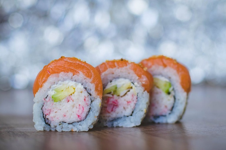 https://www.pexels.com/photo/close-up-photo-of-three-sushi-1148086/