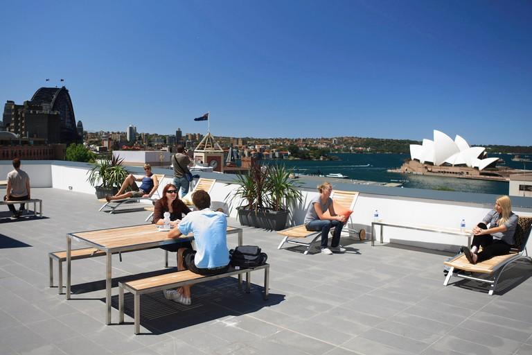 Sydney Harbour YHA rooftop terrace © YHA Australia