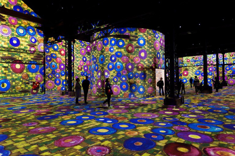 Dive into some of the world's most famous paintings at the Atelier des Lumières
