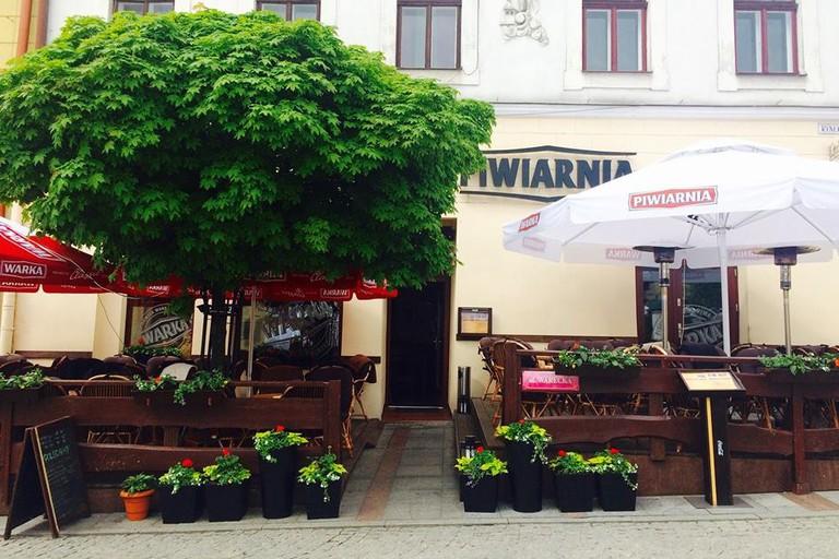 The Beer Garden at Piwiarnia Warka in Tarnów   © Restauracja/Piwiarnia Warka