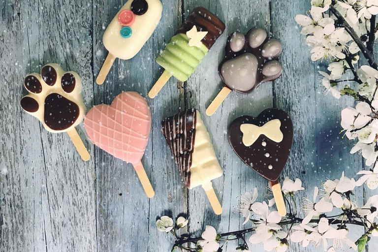 An assortment of Lickie Ice Dream's ice cream pops