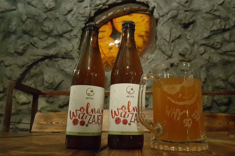 The dragon's eye and grapefruit beers at Smocze Oko | © Smocze Oko
