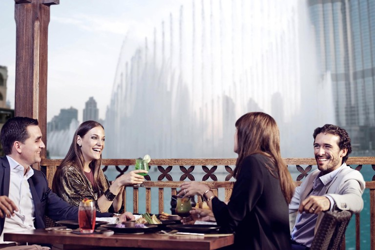 Watch The Dubai Fountain from Thiptara