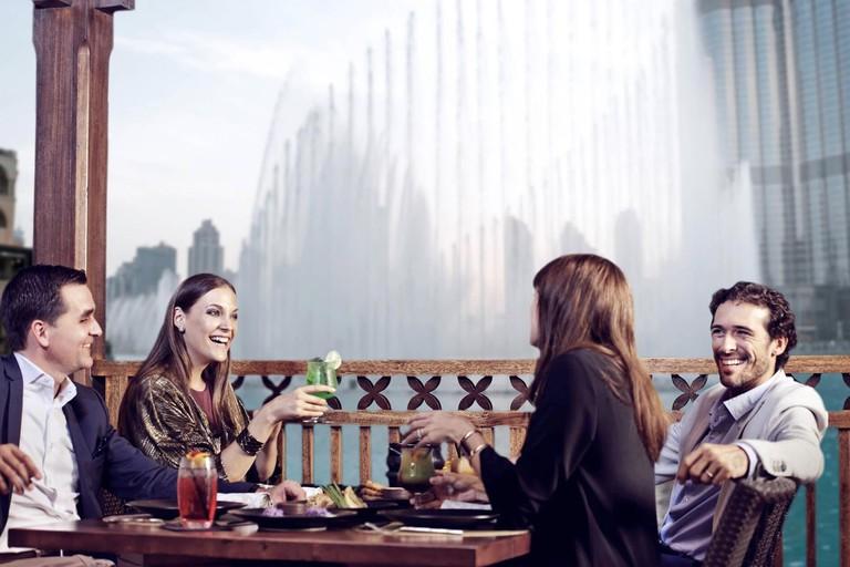 Watch The Dubai Fountain from Thiptara