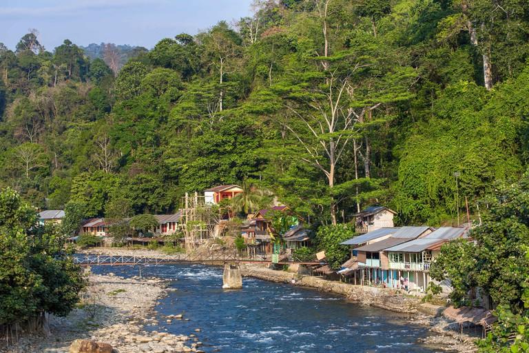 Bukit lawang village, Sumatra