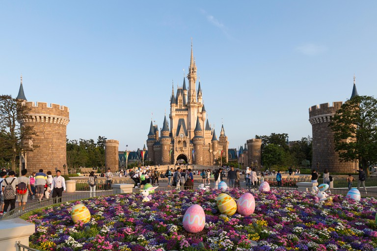Cinderella's castle at the Tokyo Disney Resort in Japan