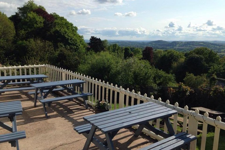 Great views at Brewers Arms, West Malvern