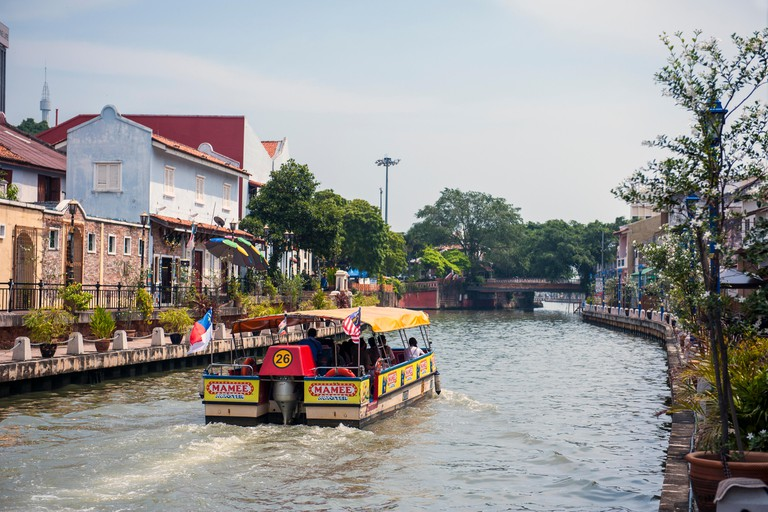 A river cruise in Malacca, Malaysia.