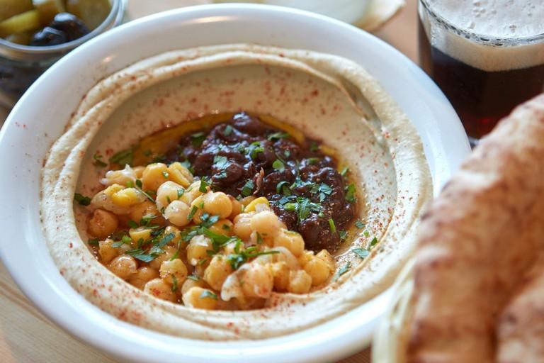 Hummus bowl at Hummus Eliyahu