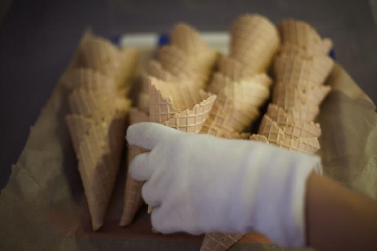 Cones from Osterberg ice cream parlour