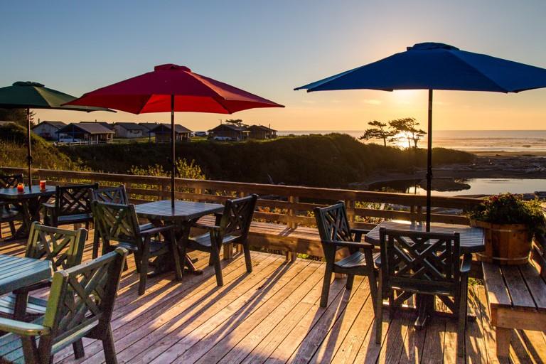 Kalaloch patio-sunset