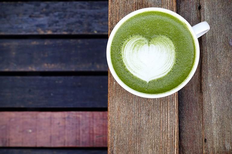 A matcha latte