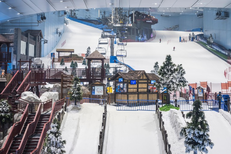 The Ski Dubai indoor ski facilities
