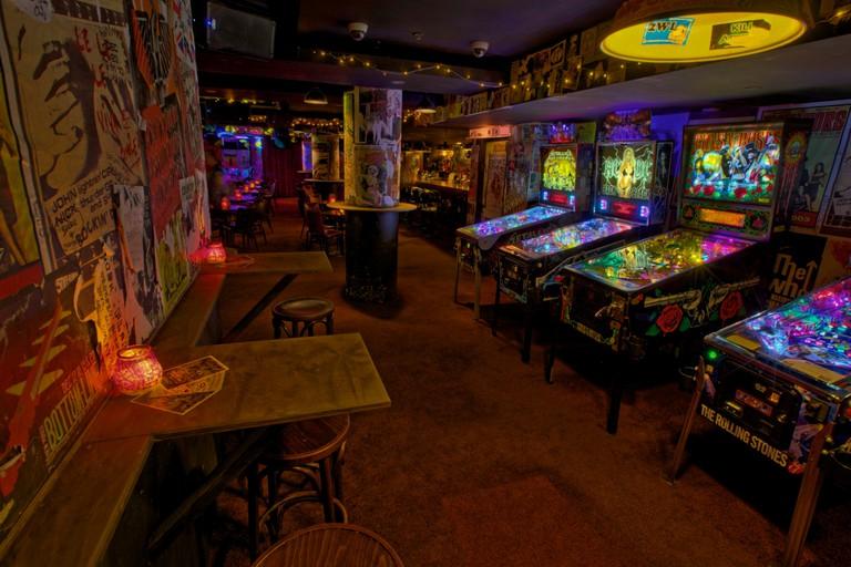 Pinball machines at Frankie's © Frankie's
