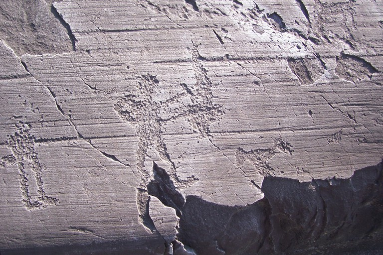 A rock carving at Capo di Ponte in Val Camonica