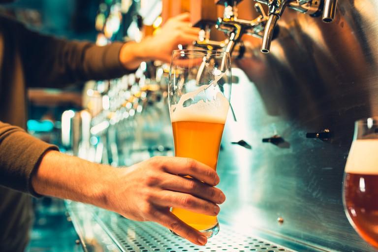 Beer in tap