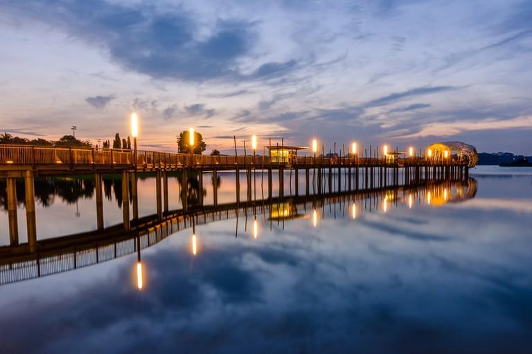 Sunrise at Upper Seletar Reservoir in Singapore